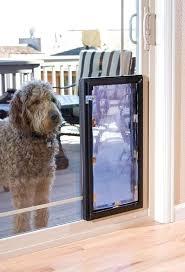 Doggy Door Installers Custom Glass Patio Pet Door Locked Dog