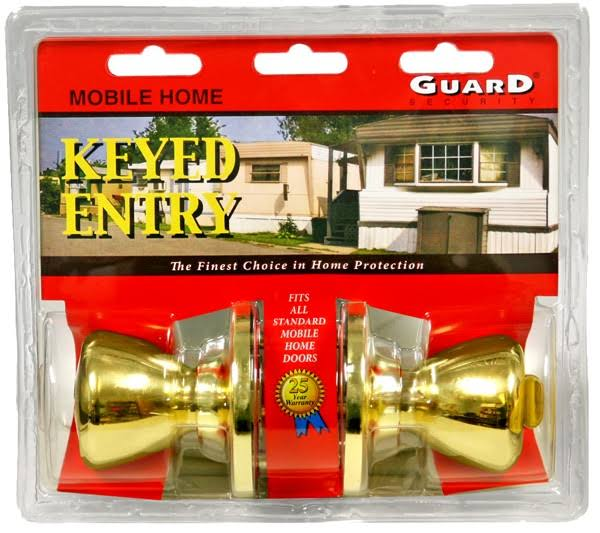 Howard Berger 1990ml Mobile Home Entry Lock Polished Brass