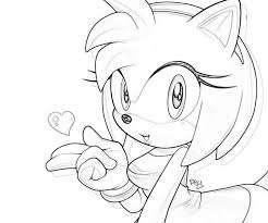 Rose Coloring Page Sonic Generations Amy Character