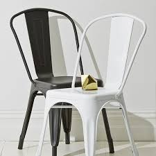 black and white metal dining chairs for industrial feel kmart
