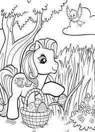 Little Pony Free Coloring Pages For Girls Easter