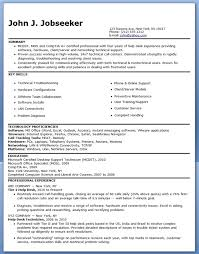 It Help Desk Resume Sample Custom