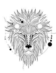 Mandala Tribal Motifs Peints Le Léopard Sur Le Fond Zendoodle