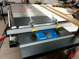 Sawstop Cabinet Saw Outfeed Table by Table Saw Enhancement Converting Extension Table Into Router