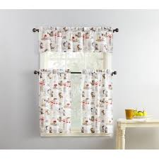 Window Art Tier Curtains And Valances by Mainstays Coffee Shop 3 Piece Kitchen Curtain And Valence Set
