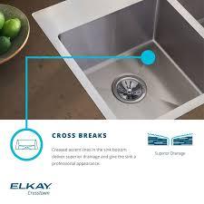 Elkay Crosstown Bar Sink by Faucet Com Ectru30179rdbg In Stainless Steel By Elkay