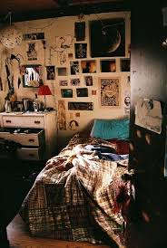 Quirky Bedroom With A Tumblr Feel Band Posters Scatter About The Walls Trinkets Setting Very Still On Vintage Dresser Love It This Is My Dre