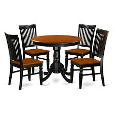 East West Furniture Antique 5 Piece Round Dining Table Set ... Cophagen 3piece Black And Cherry Ding Set Wood Kitchen Island Table Types Of Winners Only Topaz Wodtc24278 3 Piece And Chairs Property With Bench Visual Invigorate Sets You Ll Love Walnut Tables Custmadecom Cafe Back Drop Leaf Dinette Sudo3bchw Sudbury One Round Two Seat In A Rich Finish Sabrina Country Style 9 Pcs White Counter Height Queen Anne Room 4 Fniture Of America Dover 6pc Venus Glass Top Soft