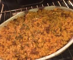 gratin de pâtes à la viande hachée et aux oeufs recette de