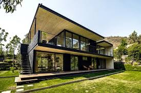 104 Contempory House Contemporary With Flat Roof Metal Facade Coating Santiago Interior Design Ideas Ofdesign