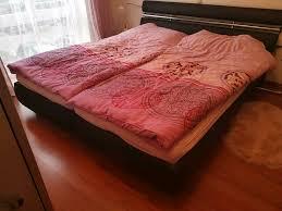 komplettes schlafzimmer bett u schrank