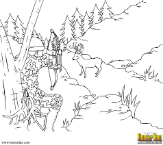 Outdoor Coloring Pages Eassume In New Hunting Deer