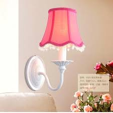Kids Wall Lamp Sconce Fabric Lampshades Led Crystal Bar Bedroom Home Diy Ideas Easy