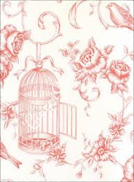 Image Is Loading Shabby Chic Vintage Bird Cage Wallpaper Blue Pink