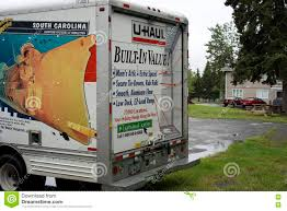 100 Moving Truck Rental Company Back Of A UHaul Editorial Photo Image Of Cargo