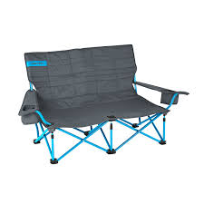 Kelty Deluxe Lounge Chair Canada by Amazon Com Kelty Low Loveseat Camp Chair Smoke Paradise Blue