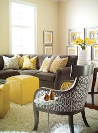 Brown Couch Living Room Ideas by Bust Of Optimize The Energy In Your Interior With Yellow Couch