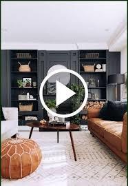 einbauregal dunkle wandfarbe wohnzimmer idee in 2021