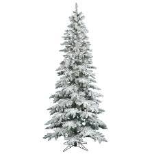 Vickerman 9Ft Flocked White On Green 1455Tips Christmas Tree 495 Cool LED