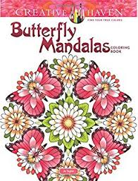 Creative Haven Butterfly Mandalas Coloring Book Adult