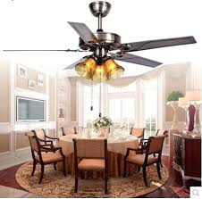 Decorative Ceiling Fans For Dining Room Fan Light With Remote Control Iron Leaf