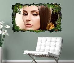 3d wandtattoo schöne frisur friseur salon haare braun frau selbstklebend wandbild wandsticker wohnzimmer wand aufkleber 11o927 wandtattoos und