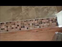 Laminate Floor Transitions To Tiles by How To Create A Beautiful Tile Transition Strip Youtube