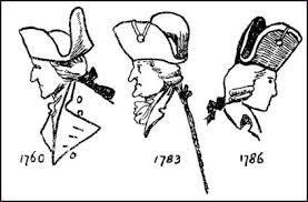 Mid Georgian Bag Wigs Queues Illustration