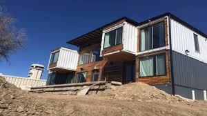 100 Container Shipping Houses Couple Uses 9 Shipping Containers To Build Home