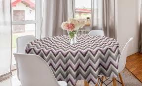 abakuhaus tischdecke kreis tischdecke abdeckung für esszimmer küche dekoration gedämpfte farben bunte zigzags waves kaufen otto