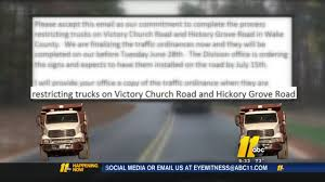 N. Wake Residents Elated As DOT Restricts Dump Trucks | Abc11.com Midsize Pickup Trucks Are The New Smaller Abc7com Eicher Abc Motors Used Cars Tampa Fl Trucks Autotrader Ford Lcf Wikipedia Female Monster Truck Drivers Cluding A Former Pageant Queen Commercial License Of And Anne Alexander Ninon Amazoncom Books Learning Street Vehicles For Children Learn Fire Engines 10cw 5 Truck Began To Fall Into Hole On Structure Flatbush Avenue In Plows Ppare Storm Trucks1g Fanisivu Home Facebook
