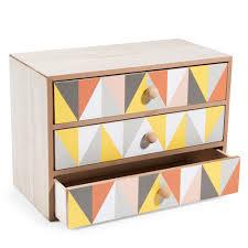 boite a tiroirs en bois statue flamant h 48 cm bricolage storage boxes and workspaces