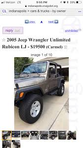 Official Craigslist Thread | Jeep Wrangler TJ Forum 2015 Chevrolet Silverado 1500 For Sale Nationwide Autotrader 16inchwestofpeoria Wondering How Far A Small Bicycle Can Go Craigslist Fools Gold Screenshot Your Ads The Something Awful Forums Boyd Automotive In Hendersonville Nc Asheville Columbus Porsche Cars A Rare 1989 Pontiac 20th Anniversary Turbo Trans Am Is For Chrysler Tc By Maserati Sale This Guy Has 13 25000 Ray Bobs Truck Salvage Immaculate 2008 Honda Civic Si Indiana Nasioc Dealership Indianapolis In Ford Fusion 46204 Best Ad Weve Seensince Last Week