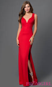 red floor length sleeveless dress with side cut outs by emerald