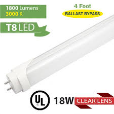 led fluorescent replacement 4 ft 22 w 2500 lumens 3000 k