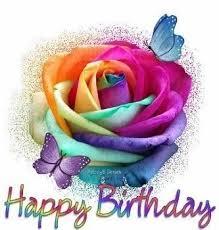 Colorful Happy Birthday Rose