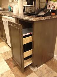 Under Cabinet Trash Can Pull Out by Kitchen Trash Cabinet