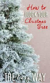 Easy Flocked Christmas Tree Instructions