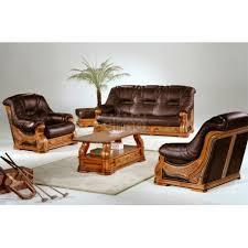 canape cuir rustique salon cuvette stylisé cuir et chêne canapé 2 ou 3 places fauteuil