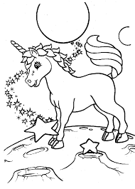 Lisa Frank Coloring Pages Unicorn On Moon