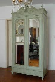Vintage French Armoire Wardrobe With Mirror : Beautiful French ... Bedroom Antique Pine Wardrobe Vintage Corner Wardrobe White French Armoire Old Style Fabulous Painted Antique Armoire Cupboard With French And Wardrobes Abolishrmcom Beautiful Portable Provencal Carved Single Door Mirrored Bedroom Loving This Flair Display Cabinet Couture Fniture Is An Inspiration Shabby Chic Armoires