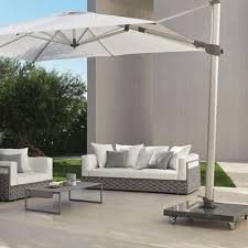 Adjustable Garden Umbrella Venere With Canopy 3x3 In 250g Polyester PU Coating Aluminium Structure And White Fabric Retractable Opening System For