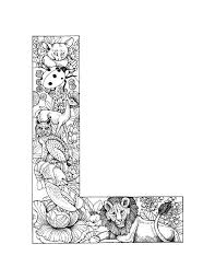 Detailed Coloring Pages Letter L