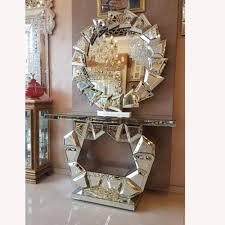 wohnzimmer gespiegelt möbel abgeschrägte konsole tisch mit wand spiegel buy silber wand spiegel konsole tisch mit wand spiegel wohnzimmer gespiegelt