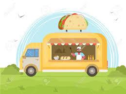 100 Taco Food Truck Street Concept Vector Flat