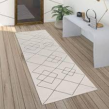 paco home teppich wohnzimmer skandi rauten muster modern weiß verschiedene designs größen grösse 60x100 cm farbe weiß