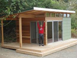 This Vashon Island client works from home at his Modern Shed home
