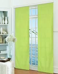 gardinenbox flächenvorhang schiebegardine blickdicht matt apfelgrün aus micro satin mikrofaser gewebe mit paneelwagen und beschwerungsstange