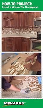 how to install a mosaic tile backsplash at menards