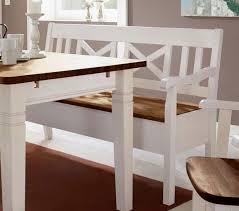massivholz sitzbank 148cm 2farbig weiß honig kiefer mit armlehne truhenbank